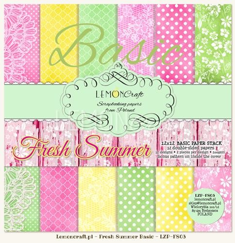 "Paper Collection Set 12""*12"" - Basic - Fresh Summer"
