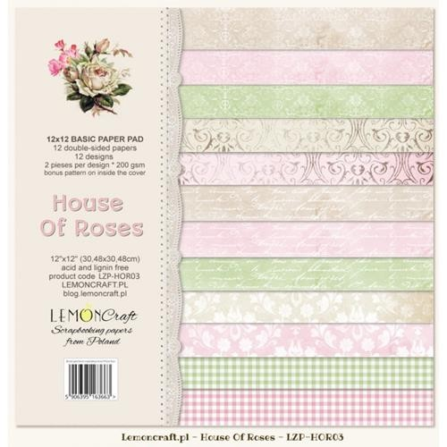 "Paper Collection Set 12""*12"" - Basic - House of Roses II"