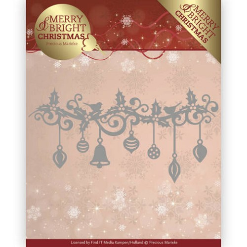 Dies - Precious Marieke - Merry and Bright Christmas - Christmas Garland