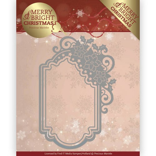 Dies - Precious Marieke - Merry and Bright Christmas - Poinsettia Ornament