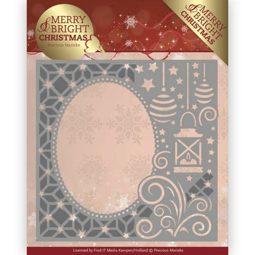 Dies - Precious Marieke - Merry and Bright Christmas - Lantern Frame