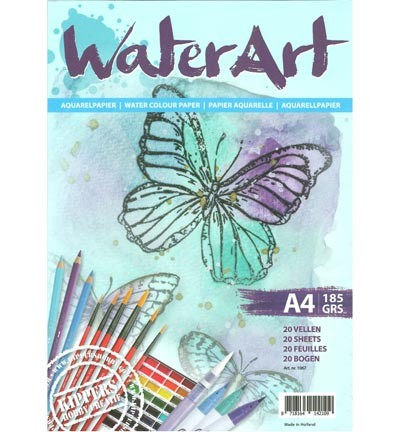 waterart Papier 20 sheets / A4/ 185 grs