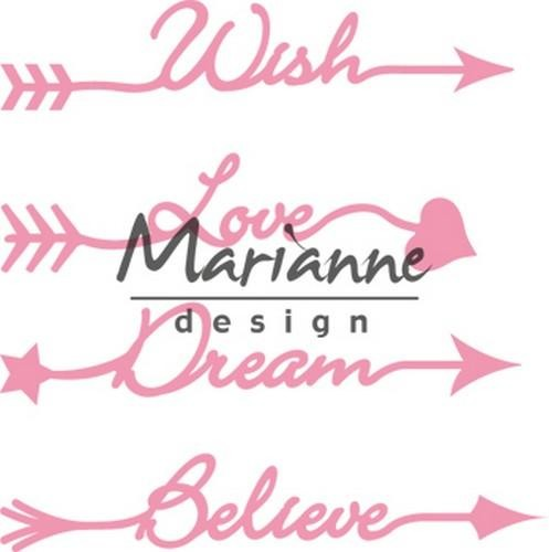 col1458 Marianne D Collectable Arrow sentiments