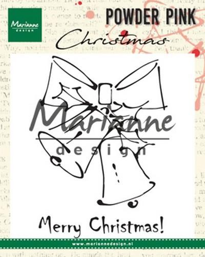 pp2810 Marianne D Clear stamp Merry Christmas bells