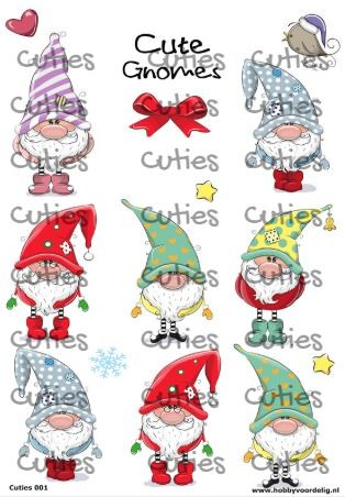 Cuties knipvel Gnomes