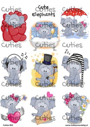 Cuties knipvel Elephants