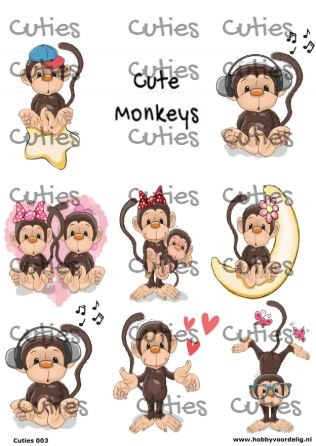Cuties knipvel Monkeys