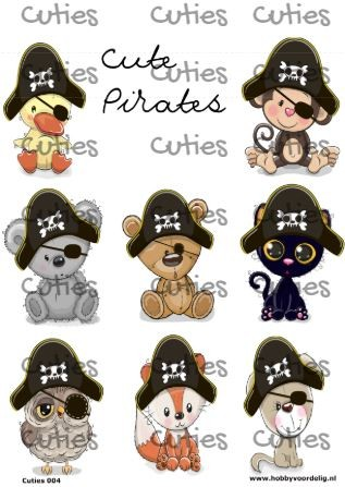 Cuties knipvel Pirates