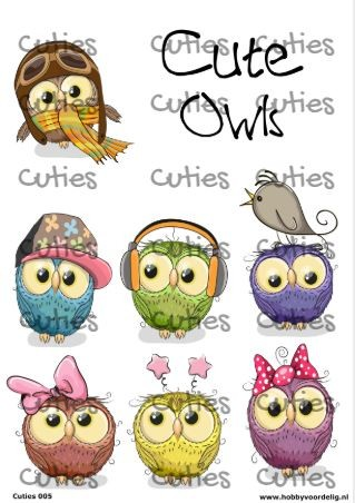 Cuties knipvel Owls