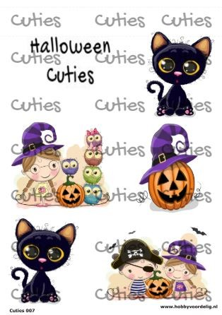 Cuties knipvel Halloween Cuties/Cartoons