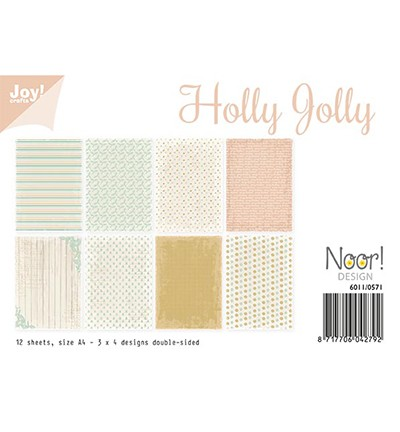 6011/0571 - Papierset - Holly Jolly