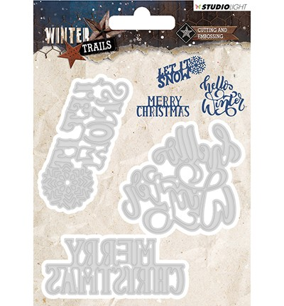 STENCILWT102 - Cutting and Embossing Die Winter Trails