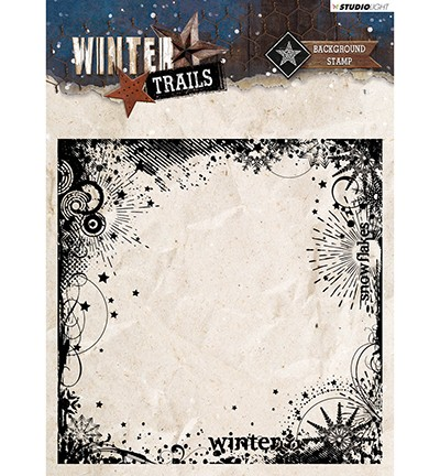 STAMPWT305 - Stamp Background Winter Trails