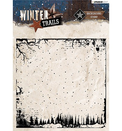 STAMPWT304 - Stamp Background Winter Trails