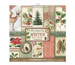 Stamperia Winter Botanic 12x12 Inch Paper Pack