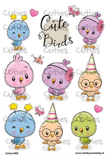 Cuties knipvel Birds