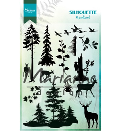 cs1014 Clear Stamps Silhouette woodland