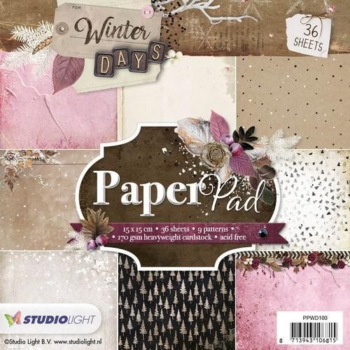 Studio Light Paper pad 36 vel Winter Days nr 100
