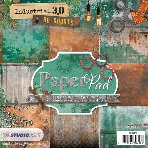 Studio Light Paper pad 36 vel Industrial 3.0 nr 102 PPIN102 15x15cm