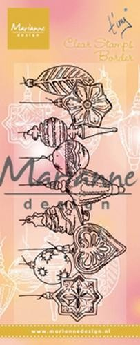 TC0868 Marianne D Clear Stamps Tiny`s border - Kerstballen