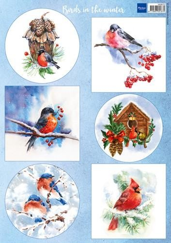 VK9572 Marianne D Decoupage Birds in the snow