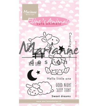 EC0175 - Stempel Eline`s Cute Animals - Sheep