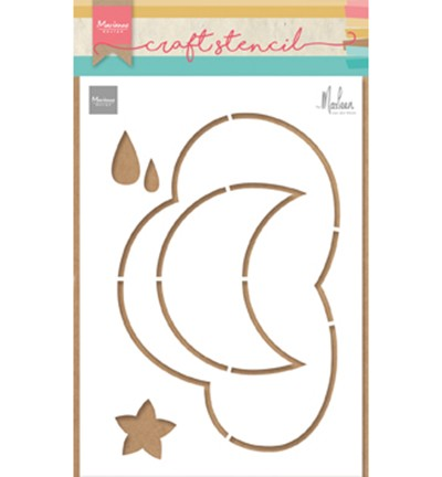 PS8020 - Craft stencil Cloud by Marleen