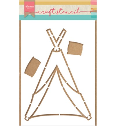 PS8021 - Craft stencil Tipi by Marleen