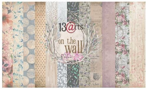 "Paper Collection Set 12""*12"" - On the wall by Olga Heldwein"
