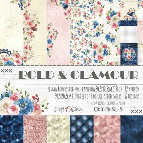 "Paper Collection Set 12""*12"" Bold & Glamour"