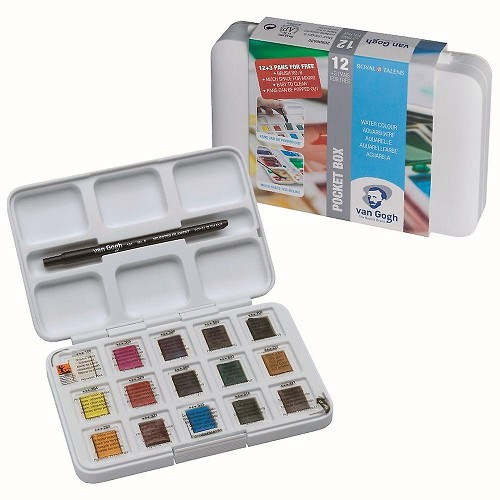 Talens Art Creations aquarelverf pocketbox 12 + 3 gratis