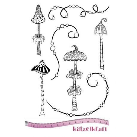 Rubberstamp Whimsy mushrooms
