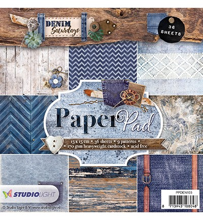PPDEN103 - Paper Pad, Denim Saturdays nr.103