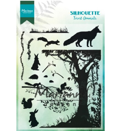 CS1021 - Clearstamp Silhouette Forest Animals