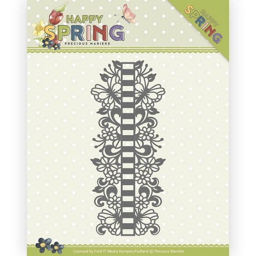 Dies - Precious Marieke - Happy Spring - Ribbon Border