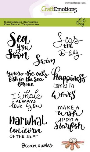 CraftEmotions clearstamps A6 - Ocean quotes (Eng)