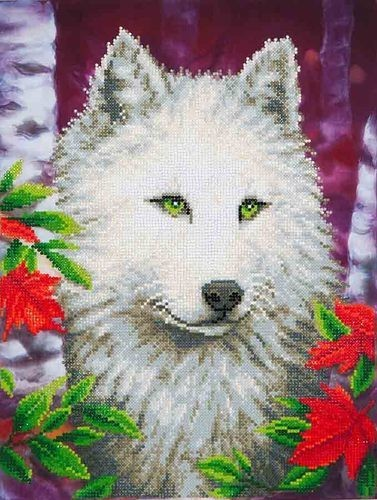 Diamond Dotz - 45,7x35,5cm - White Wolf