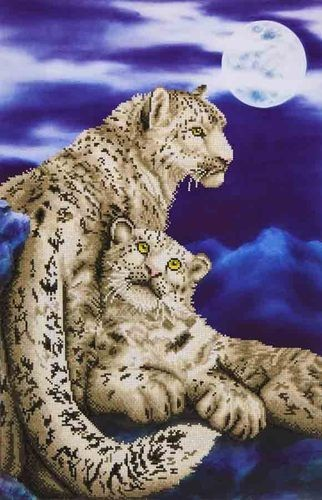 Diamond Dotz - 52x77cm - Snow Leopards