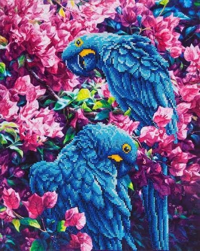 Diamond Dotz - 52x42cm - Blue Parrots