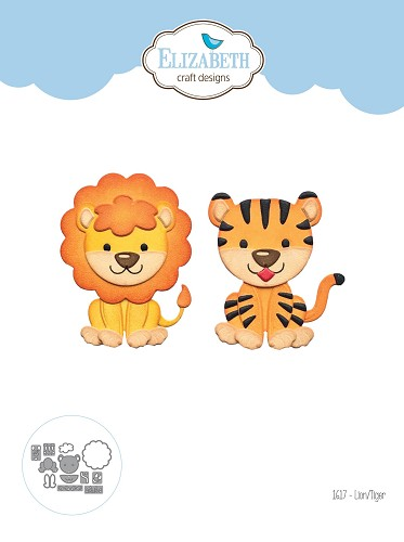 Lion Tiger die set from the Safari Collection