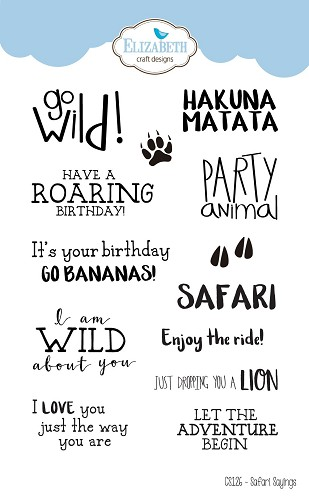 Safari Sayings Clearstamp