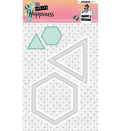 STENCILCR160 - Cutting and Embossing Die Create Happiness nr.160