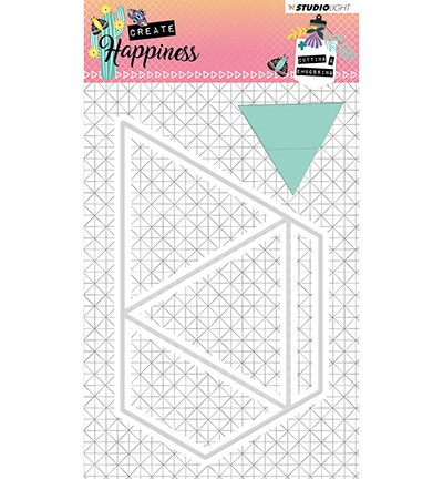 STENCILCR159 - Cutting and Embossing Die Create Happiness nr.159