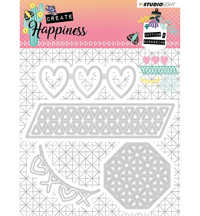 STENCILCR158 - Cutting and Embossing Die Create Happiness nr.158