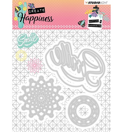 STENCILCR157 - Cutting and Embossing Die Create Happiness nr.157