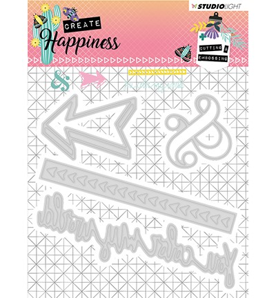 STENCILCR156 - Cutting and Embossing Die Create Happiness nr.156