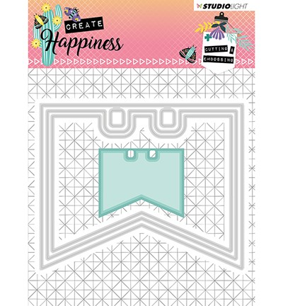 STENCILCR154 - Cutting and Embossing Die Create Happiness nr.154