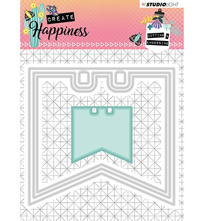 STENCILCR153 - Cutting and Embossing Die Create Happiness nr.153