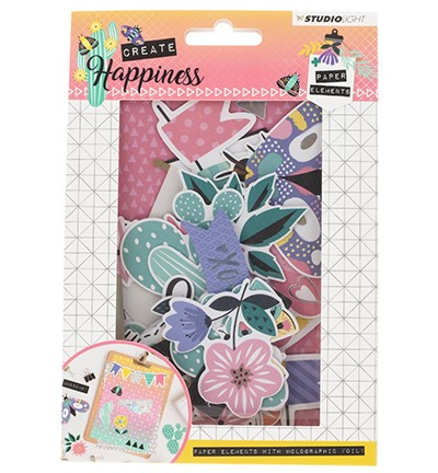 Die Cut Paper Set Contents Background Paper + Photos + Labels & Extras nr.648