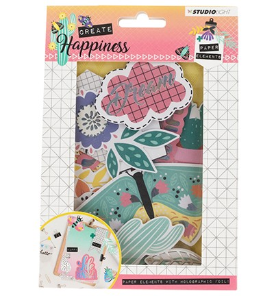 Die Cut Paper Set Contents Background Paper + Photos + Labels & Extras nr.647